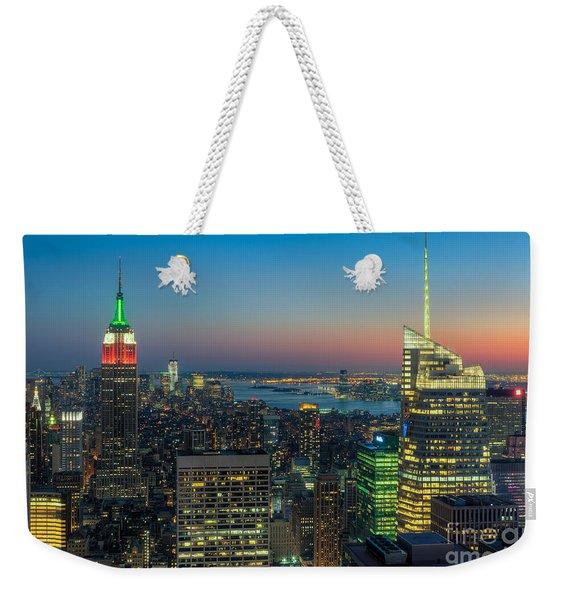 Top Of The Rock Twilight I Weekender Tote Bag
