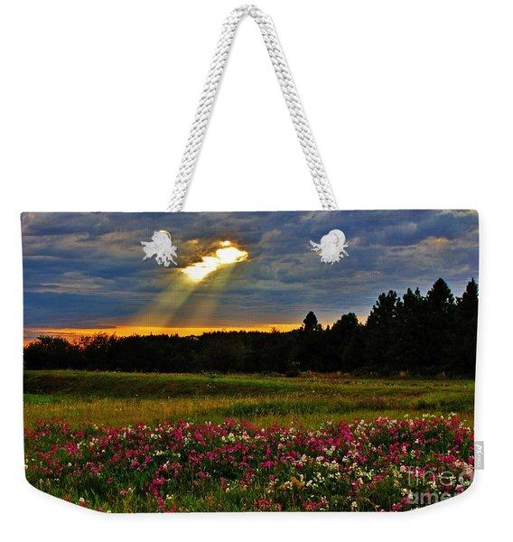 Torn Sky Weekender Tote Bag