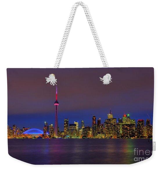 Toronto By Night... Weekender Tote Bag