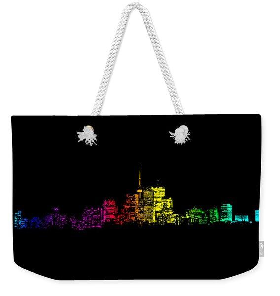 Toronto Skyline Gradient Weekender Tote Bag