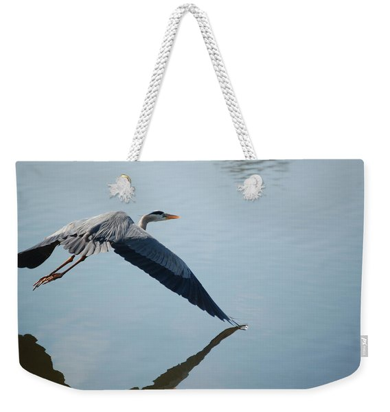 Touch The Water With A Wing Weekender Tote Bag