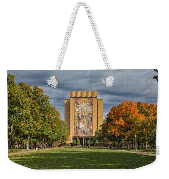Touchdown Jesus Weekender Tote Bag