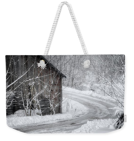 Touched By Snow Weekender Tote Bag