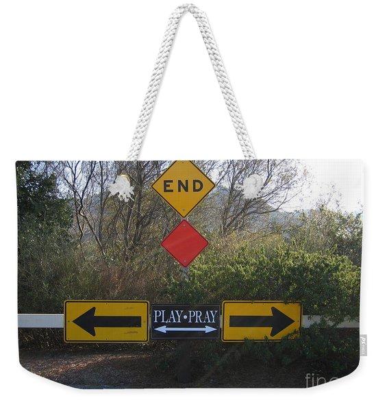 Tough Decision Weekender Tote Bag