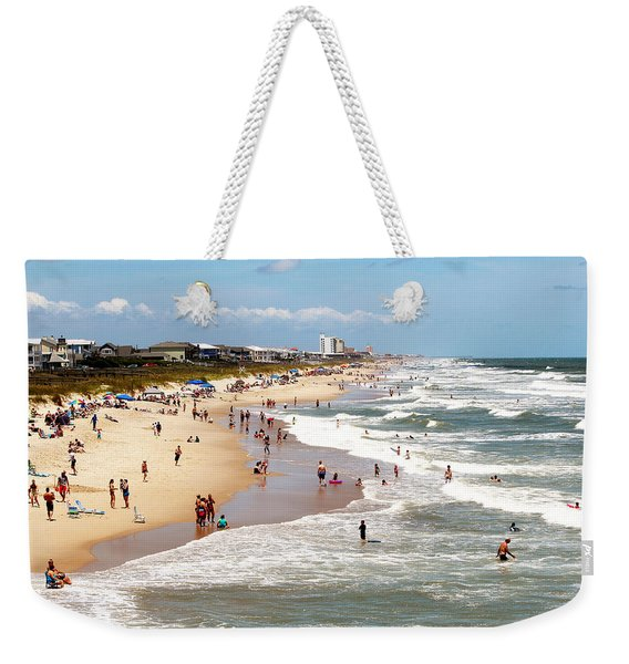 Tourist At Kure Beach Weekender Tote Bag