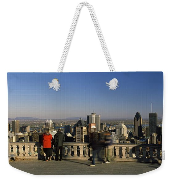 Tourists At An Observation Point Weekender Tote Bag