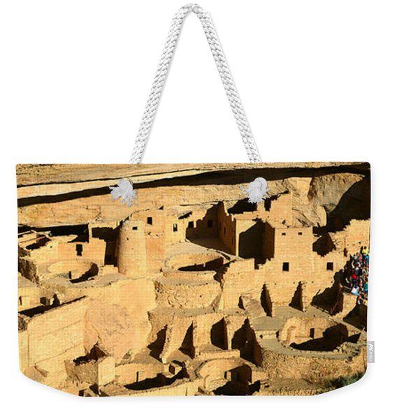 Tourists At Cliff Palace, Mesa Verde Weekender Tote Bag