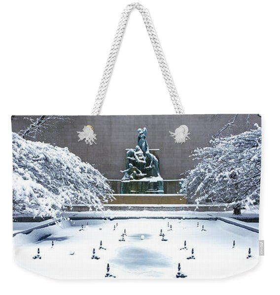 Tourists In Front Of A Fountain Weekender Tote Bag