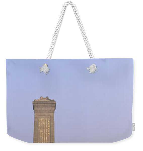 Tourists In Front Of A Monument Weekender Tote Bag