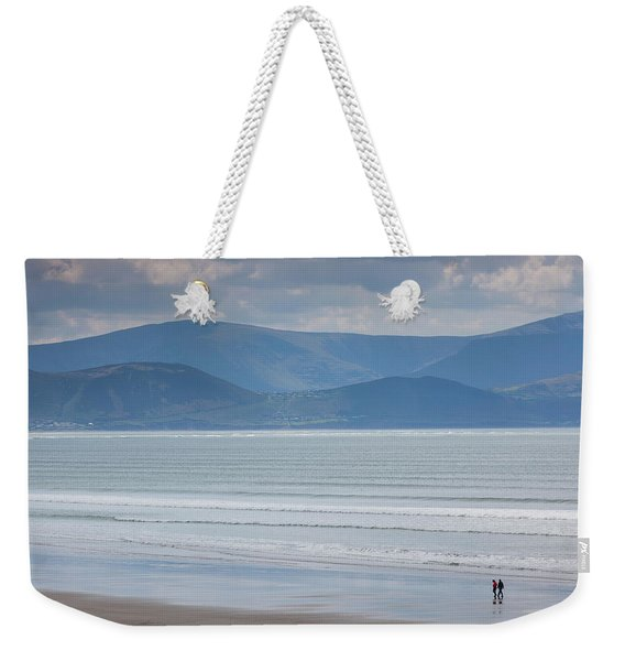 Tourists On The Beach, Inch Strand Weekender Tote Bag