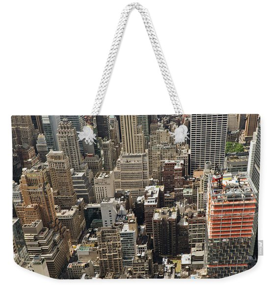 Tourists Viewing Downtown Manhattan Weekender Tote Bag