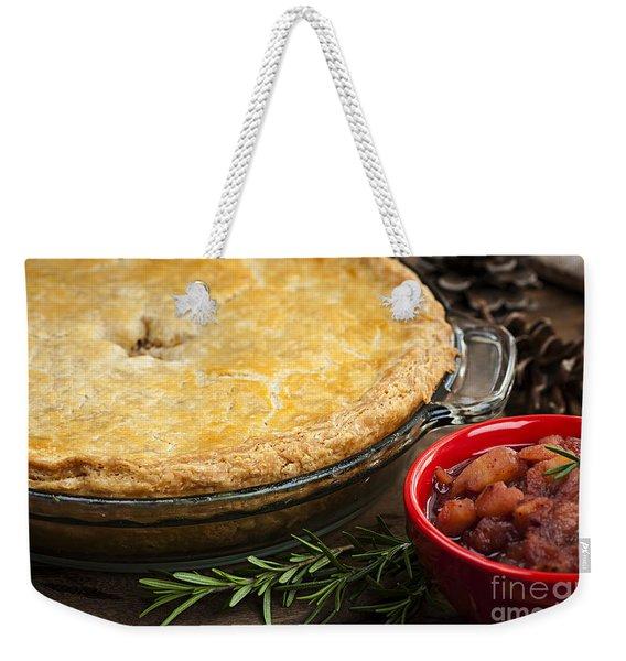 Tourtiere Meat Pie Weekender Tote Bag