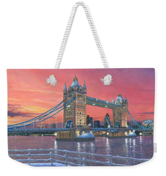 Tower Bridge After The Snow Weekender Tote Bag