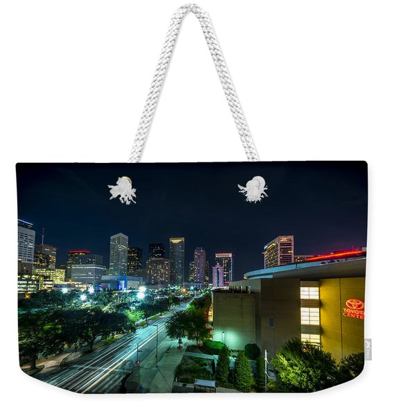 Toyota Center And Downtown Houston Weekender Tote Bag