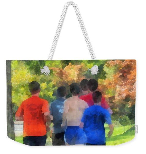 Track Practice Weekender Tote Bag