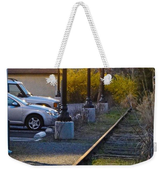 Tracks At Dusk Weekender Tote Bag
