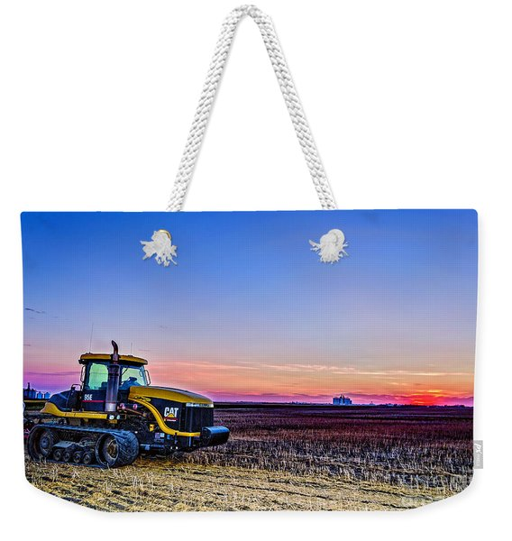 Tractor In The Field Weekender Tote Bag