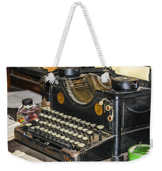 Weekender Tote Bag featuring the photograph Traditional Typewriter by Susan Leonard
