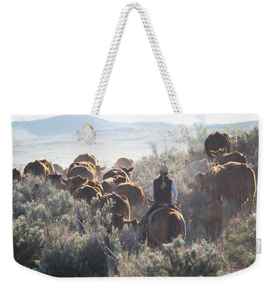 Trailing Cattle Weekender Tote Bag