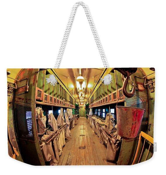 Train Mail Car Weekender Tote Bag
