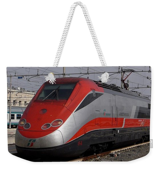 Train Out Of Rome Weekender Tote Bag
