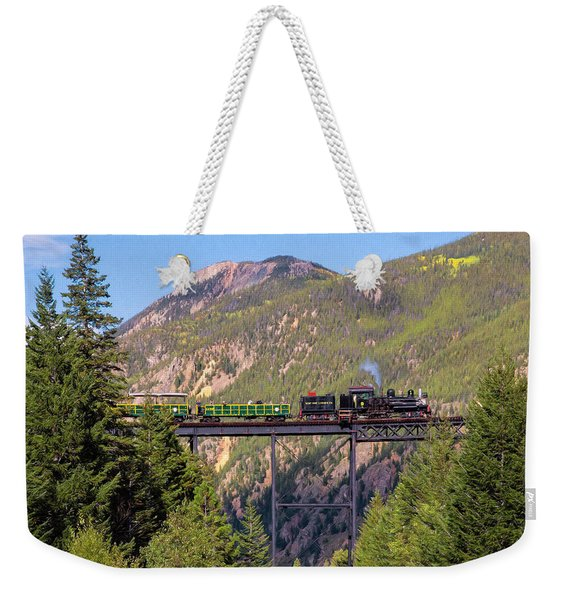 Train Over The Trestle Weekender Tote Bag