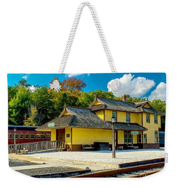 Train Station In Tuckahoe Weekender Tote Bag