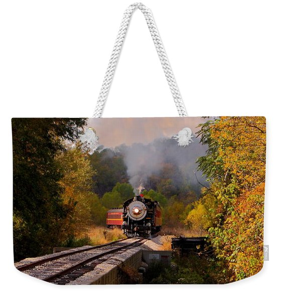 Train Through The Valley Weekender Tote Bag