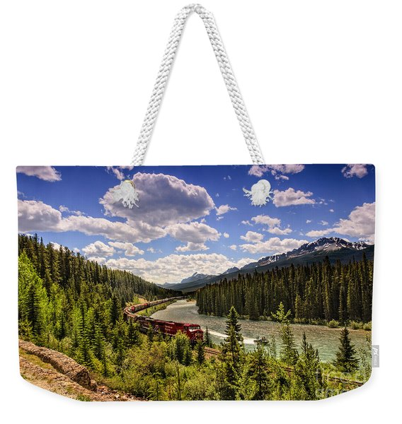 Train Through The Mountains Weekender Tote Bag