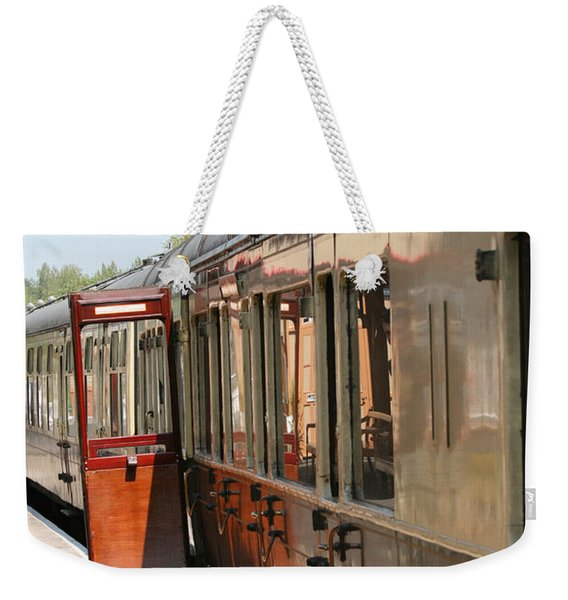 Train Transport Weekender Tote Bag