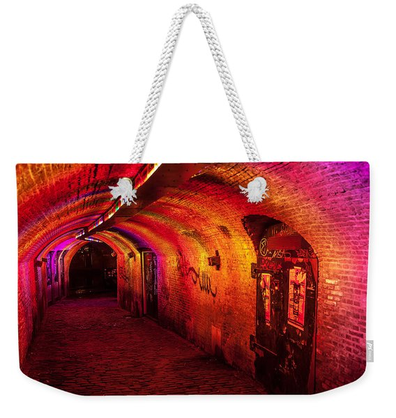 Trajectum Lumen Project. Ganzenmarkt Tunnel 4. Netherlands Weekender Tote Bag
