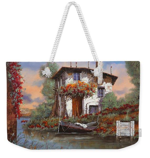 Tramonto Sul Lago Weekender Tote Bag