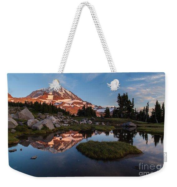 Tranquil Mountain Pool Weekender Tote Bag