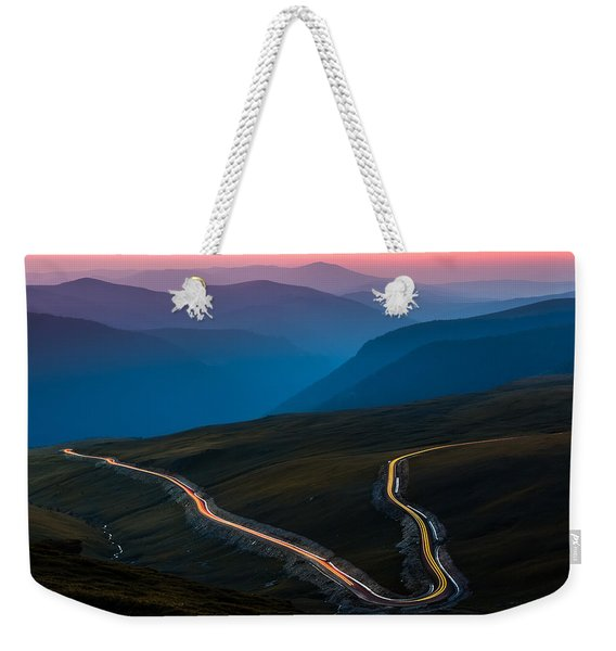 Weekender Tote Bag featuring the photograph Transalpina by Mihai Andritoiu