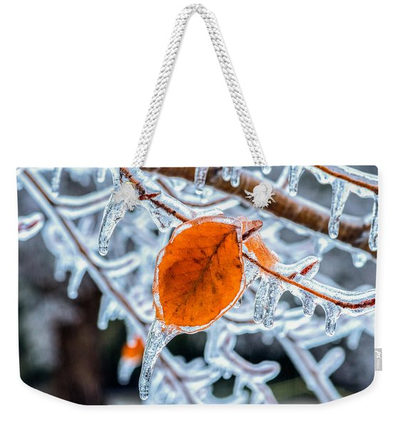 Weekender Tote Bag featuring the photograph Trapped by Garvin Hunter