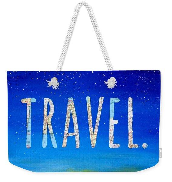 Travel Word Art Weekender Tote Bag
