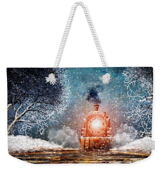 Traveling On Winters Night Weekender Tote Bag