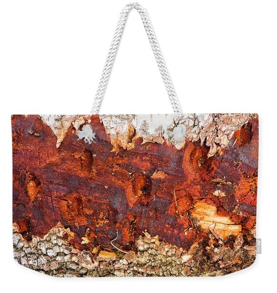 Tree Closeup - Wood Texture Weekender Tote Bag