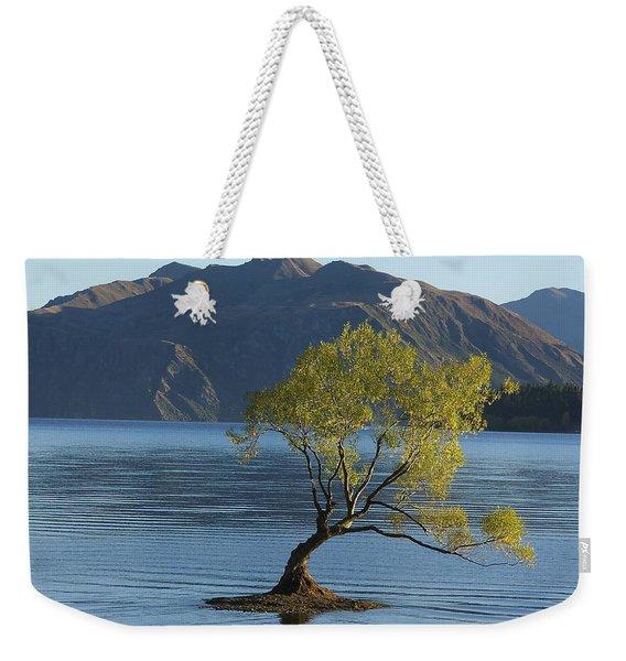 Tree In Lake Wanaka Weekender Tote Bag