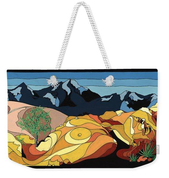 Tree Of Life Painting W/ Hidden Picture Weekender Tote Bag