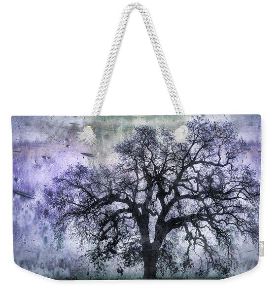 Tree Silhouette In Purple Weekender Tote Bag