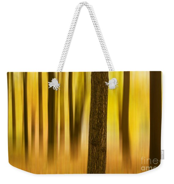 Trees In Autumn Forest Weekender Tote Bag