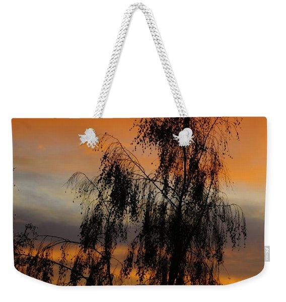 Trees In The Sunset Weekender Tote Bag