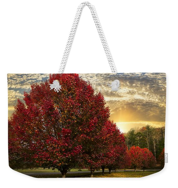 Trees On Fire Weekender Tote Bag