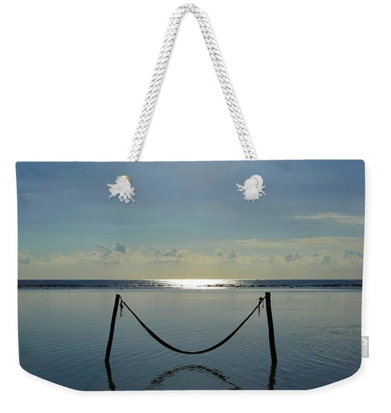 Weekender Tote Bag featuring the photograph Tres Luces by Skip Hunt