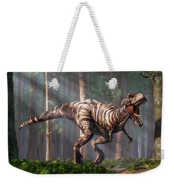Trex In The Forest Weekender Tote Bag