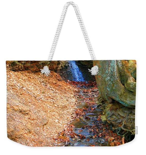 Trickling Waterfall By Shellhammer Weekender Tote Bag