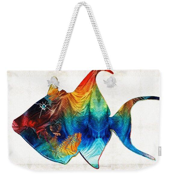 Trigger Happy Fish Art By Sharon Cummings Weekender Tote Bag
