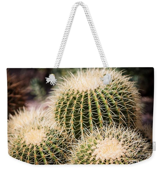 Weekender Tote Bag featuring the photograph Triple Cactus by John Wadleigh