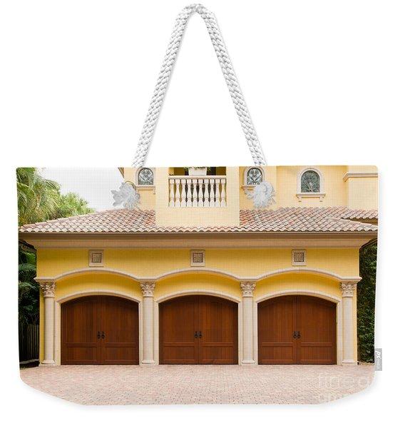 Triple Garage Doors Weekender Tote Bag